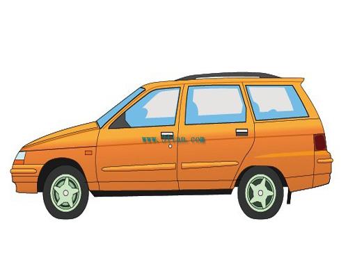 车 两厢 汽车 设计 矢量 矢量图 素材 500_400
